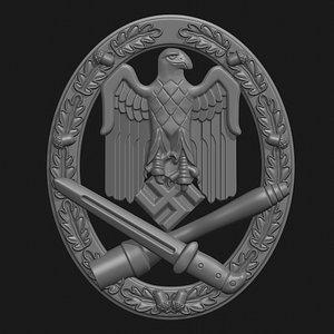 3D wwii badge assault
