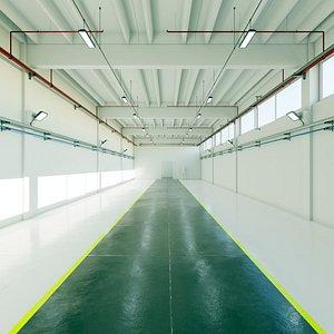 hall industrial interior 3D model