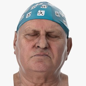 Homer Human Head Eyes Clossed AU43 Clean Scan 3D model