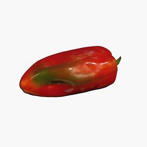Red Pepper 3D Scan High Quality 3D model