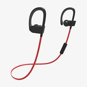 3D ear wireless headphone model
