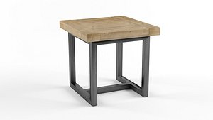 TORANO SALVAGED SQUARE SIDE TABLE 3D