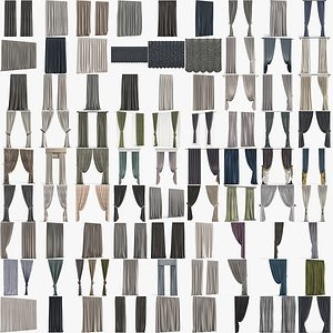 3D Collection of Curtains model