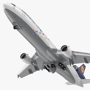 McDonnell Douglas MD11 Tri Jet Airliner Lufthansa Cargo Rigged 3D