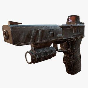 gun pistol handgun model