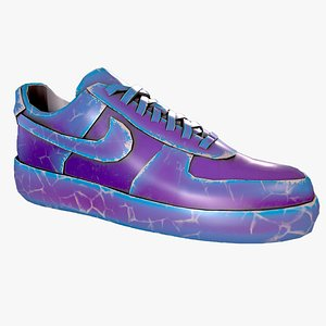 3D model Nike Air Force 1 kit 18 custom Low-poly game ready pbr Low-poly 3D model