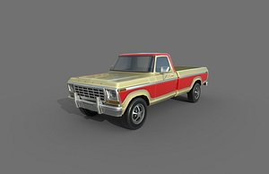 3D Low Poly Car - Ford F150 1978