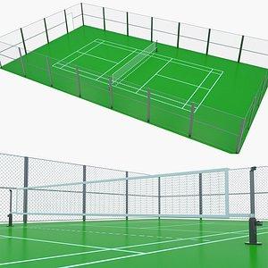 Badminton Court 2 3D model