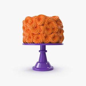 Halloween Cake with Violet Base 3D model