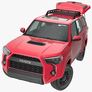 3D Toyota 4Runner TRD Pro Red Metallic 2021 Rigged