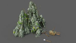 Mine cave Mining cave Ore cave Game model lowpoly 3D model
