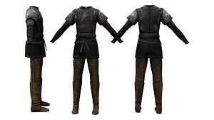 Ragnar Full Viking Outfit 3D model