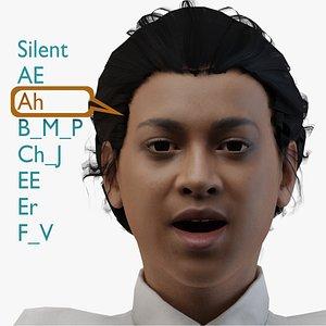 3D talking woman model