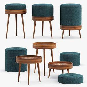 Ellen Heilmann - The royal family stools 3D model