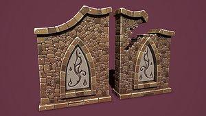 Fantasy wall 1 3D model