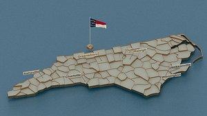 3D model north flag