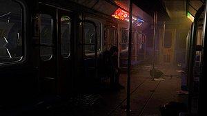 3D Abandoned Metro model