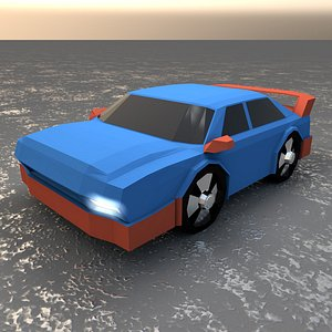3D Low Poly Car model