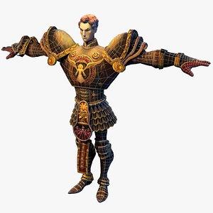 3D war paladin warrior