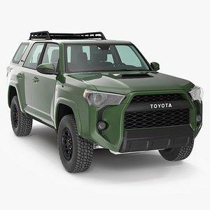3D Toyota 4Runner TRD Pro Army Green 2021
