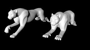 cheetah puma running 3D model