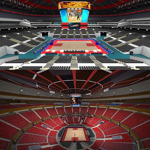 Basketball Arena Collection 3D model