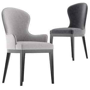 Flexform Mood collection You dining chair 3D model