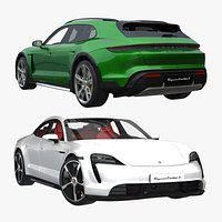 Porsche Taycan and Taycan Cross Turismo Turbo S 3D