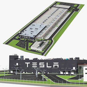 3D Tesla Giga Shanghai Factory