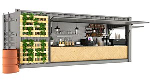 Container Coffee Shop 3D