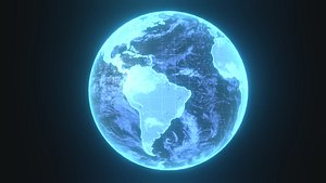 3D earth planet hologram