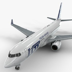 3D model boeing 737-8 lot polish