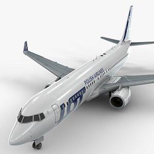 3D model boeing 737-8 lot polish