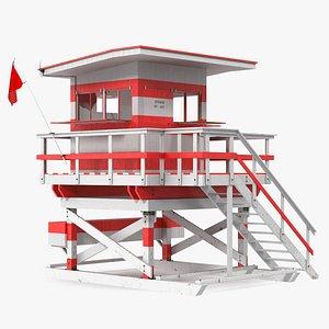 3D Beach Lifeguard Tower