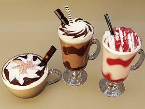 milk milkshake shake 3D