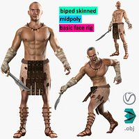 Warrior Hero Medieval Human Male Character