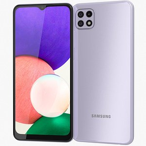 Samsung Galaxy A22 5G Violet 3D model