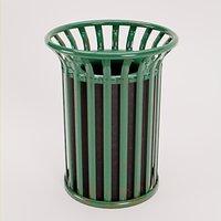 Steel Outdoor Trash Can