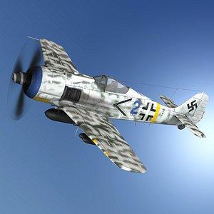 Focke Wulf - FW190 F8 - Blue 2 3D model