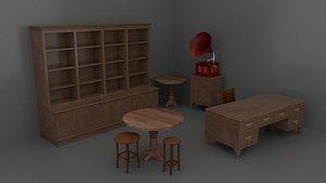 old vintage furniture pack 3D model