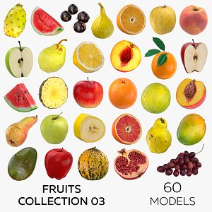 Fruits Collection 03 - 60 models 3D
