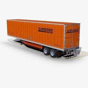 3D dry van trailer 48ft model