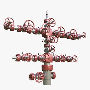 3D gas wellhead head