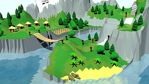 islands ocean 3D model