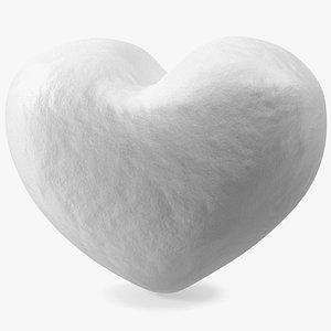 3D Heart Shaped Snowball