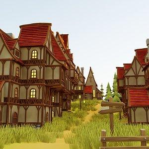 3D build fantasy village pack