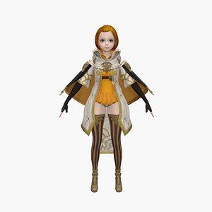 girl princess child 3D