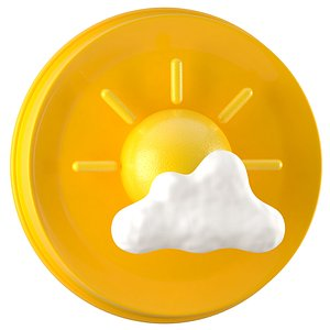 Weather Symbols Sun With Clouds model