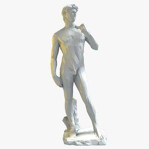 3D stylized statue david