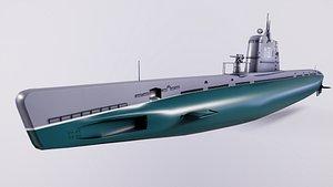 Submarines type M XII 3D model